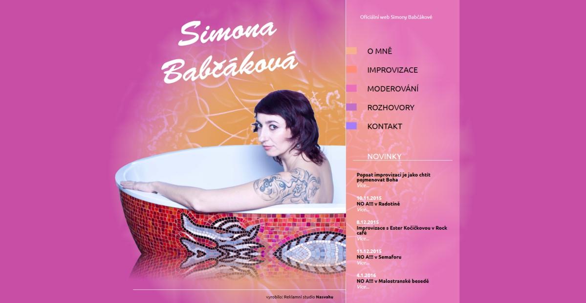webové stránky - babcakova 1