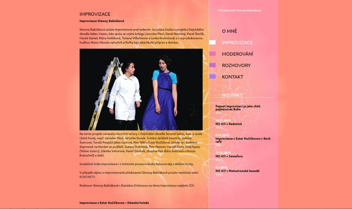 webové stránky - babcakova 2