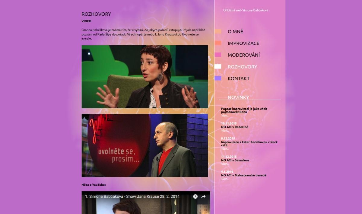 webové stránky - babcakova 4