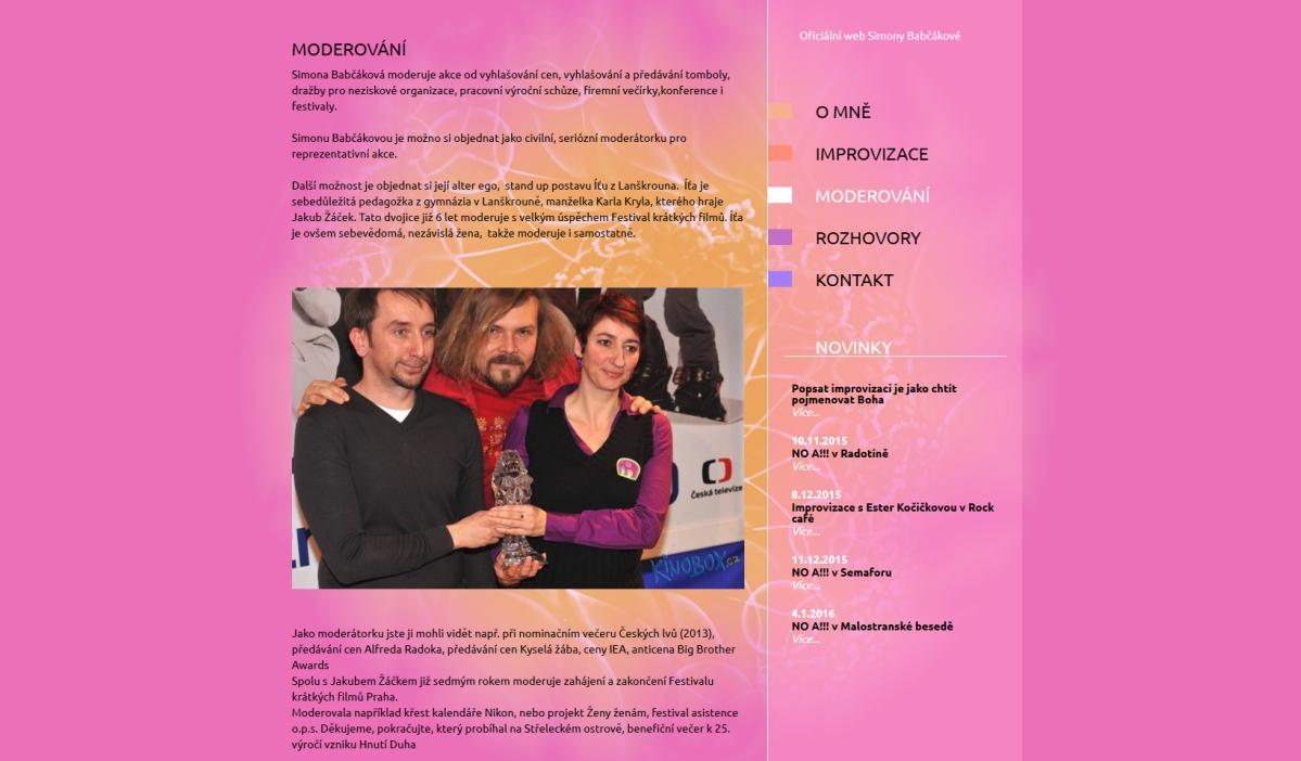 webové stránky - babcakova 3